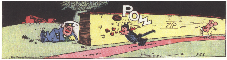 Krazy Kat Beaned by Ignatz Mouse